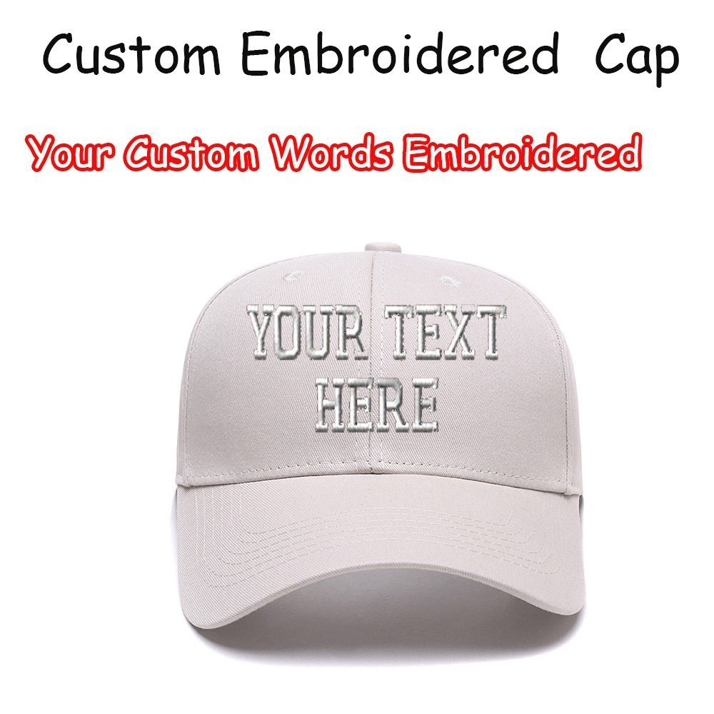7d8c57614a5 Custom Embroidered Baseball Hat Personalized Adjustable Cowboy Cap ...