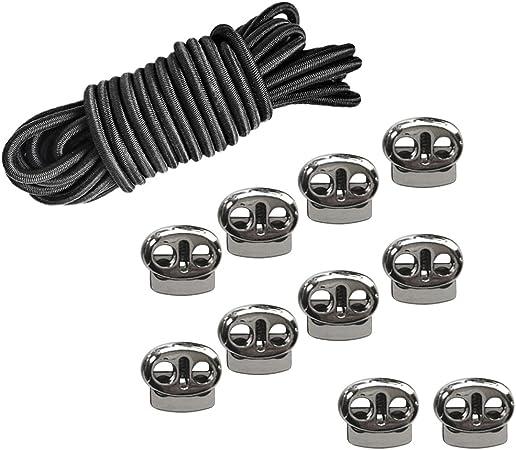 10Pcs Haricots de Cordon élastique de corde de choc élastique de 16.4ft