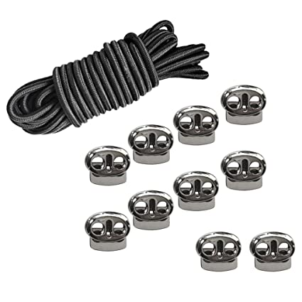 Buy Pack Of 10 Alloy Metal Bean 2 Hole Cord Lock Toggles Stop
