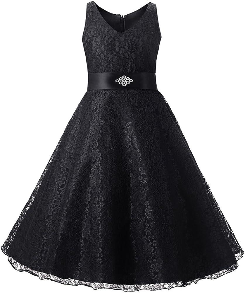 Amazon.com: LPATTERN Vestido de princesa de encaje con ...