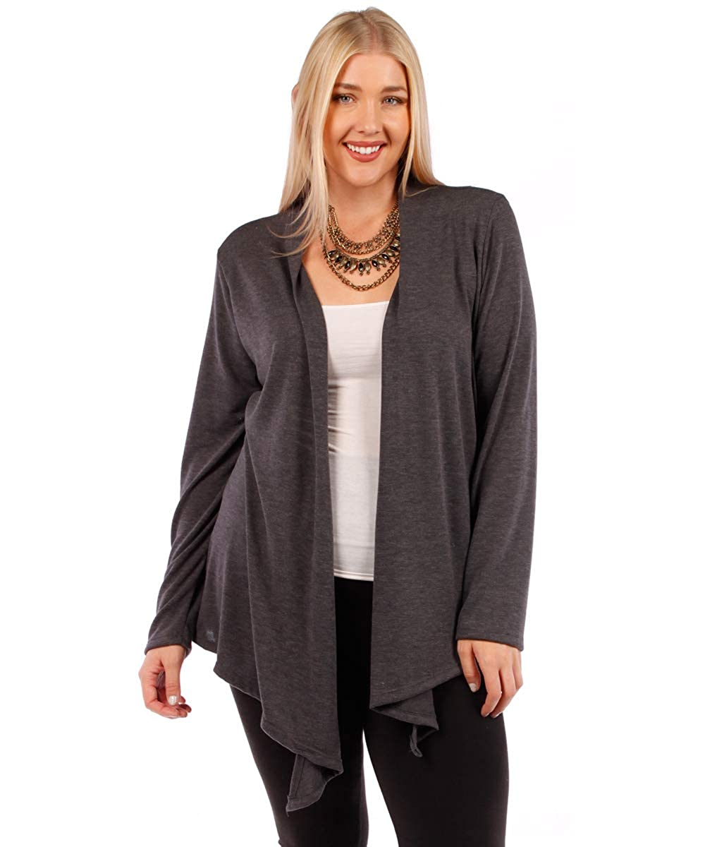 YUMMY PLUS Womens Plus Size Open Cardigans (Sizes 1X 2X 3X 4X 5X 6X)