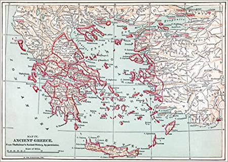 photo relating to Printable Map of Ancient Greece known as Poster 40 x 30 cm: Map: Historical Greece by way of Granger Choice