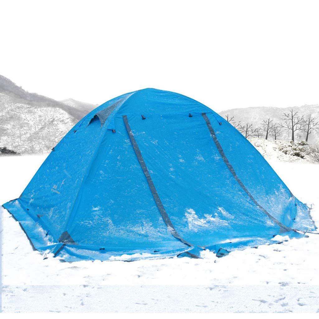 AX-outdoor products Doppeltes kampierendes Überdachungszelt des Zeltes im Freien Doppeltes Wasserdichtes Markisenpolyestertuch/Blaue Farbe 210  150  115cm