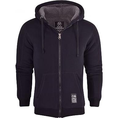 bca3f29b6 Island Trading Mens Padded Borg Fleece Sherpa Lined Full Zip Up Hoodie  Sweatshirt Jacket: Amazon.co.uk: Clothing