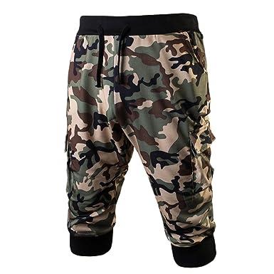 Chouette Homme Short de Sport Camouflage Elastique Bermuda Pantacourt Militaire  Gym Jogging Casual Vintage Pantalon Loose  Amazon.fr  Vêtements et ... 4eec22f9844