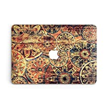 GoodMoodCases Plastic Hard Case Cover for MacBook Air 13-inch 2011-2015 (A1369 & A1466) without CD Rom - Vintage Mandala