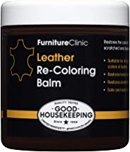 Furniture Clinic Leather Recoloring Balm - Leather Color Restorer for Furniture, Repair Leather Color on Faded & Scratched L