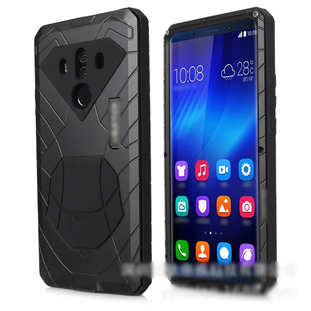 Abiliyy Huawei P20、P20 Pro、P10、P10 Pro、P9、Mate10、Mate10 Pro用ファッション3アンチ携帯電話シェル ハイエンド メタル保護カバー電話ケース (Color : 黒, Edition : P20)