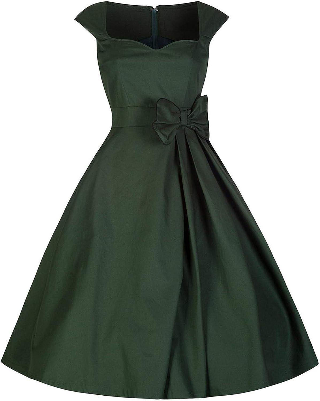 Robe d'été sans manches pour femme - Grande taille - Style rétro années 50 - Noir 11