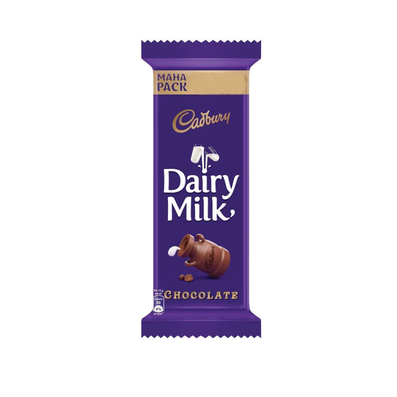 Cadbury Dairy Milk Chocolate Bar, 50g Maha Pack (Pack of 15)