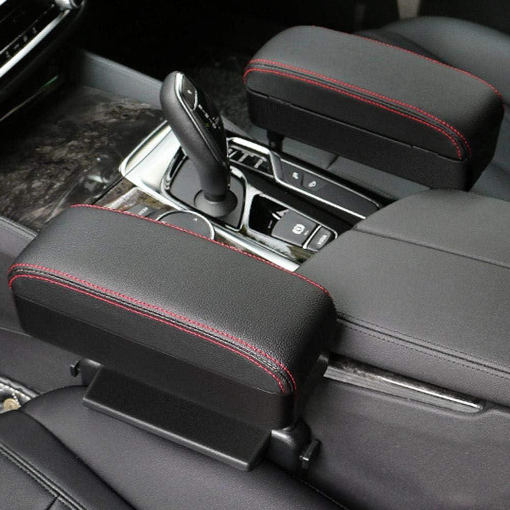 ligne noire Tidystore Rallonge accoudoirs de voiture en cuir synth/étique avec hauteur r/églable et bo/îte de rangement