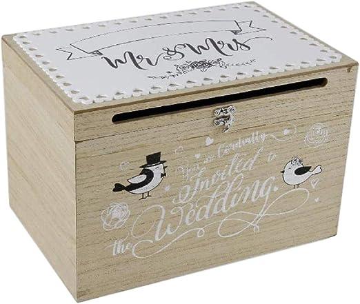 Home Collection - Caja de madera para tarjetas y dinero, hucha ...