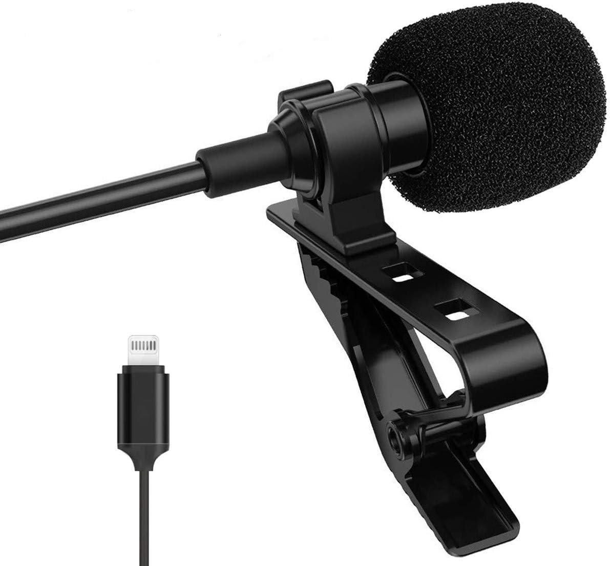 Lavalier Mikrofon Für Iphone Ansteckmikrofon Omnidirektionalem Kondensator Lavalier Mikrofon Für Iphone Ipad Mac Ios 1 5m Musikinstrumente