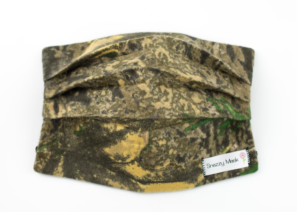 Camo Face Mask - Flannel Mask - Surgical Mask - Warm Flannel Mask - Cold Weather Face Mask - Flannel Face Mask - Face Mask - Mask - Warm Face Cover (Tree Camo) by Snazzy Mask