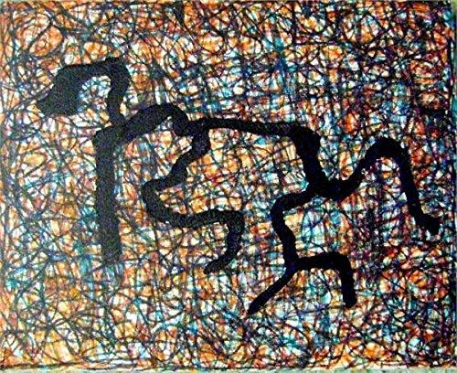 (Crawling original Art hand signed hand painted by modern artist Stephen Cohn 8x10 canvas)