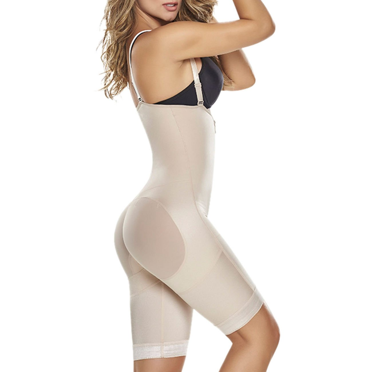 ebee843d6 TrueShapers 1221 Power Slimmed Mid-Thigh Body Shaper at Amazon Women s  Clothing store