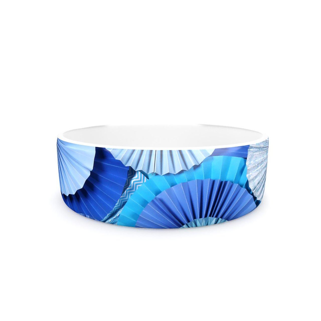 Kess InHouse Heidi Jennings bluee Lagoon  Pet Bowl, 7-Inch, Aqua Navy