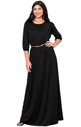 d10150268036 KOH KOH Petite Women Long 3 4 Sleeve Sleeves Vintage Autumn Fall Winter  Flowy Formal