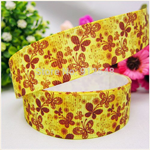 [FunnyCraft 10 Yards Hot Sale 22Mm Autumn Butterfly Printed Grosgrain Ribbon Clothing Accessories Diy Handmade] (Book Week Costumes For Sale)