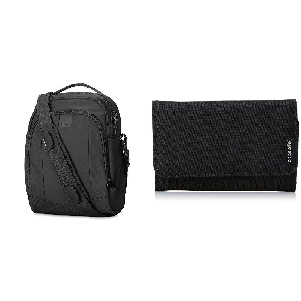 PacSafe Metrosafe LS250 Anti-Theft Shoulder Bag with Anti-Theft Wallet