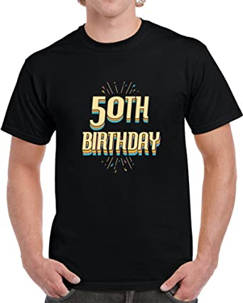 PHOENIX FINDS TREASURES Mens 50th Birthday Party Gift T Shirt S Black