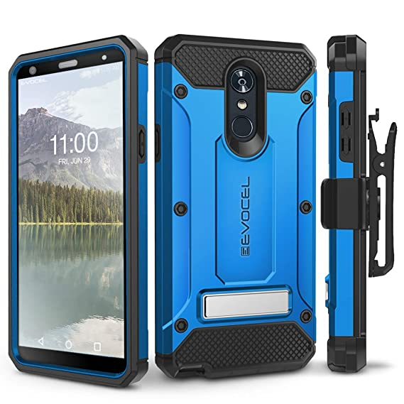 quality design 621b5 fd762 LG Stylo 4 Case, Evocel [Explorer Series Pro] Premium Full Body Case with  Glass Screen Protector, Belt Clip Holster, Metal Kickstand for LG G Stylo 4  ...