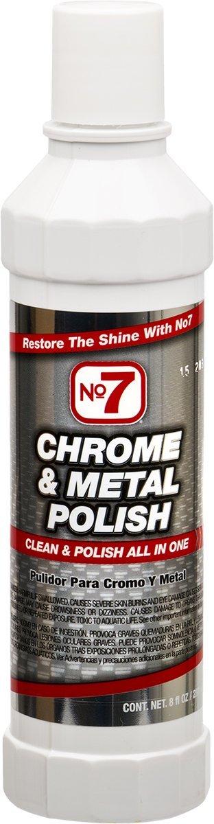 Niteo No7 Chrome & Metal Polish, 8 fl oz, Case of 12