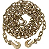 "2 Pack 5/16"" x 20' G70 Transport Tie Down Chains Truck Trailer Tow Chain Grade 70"