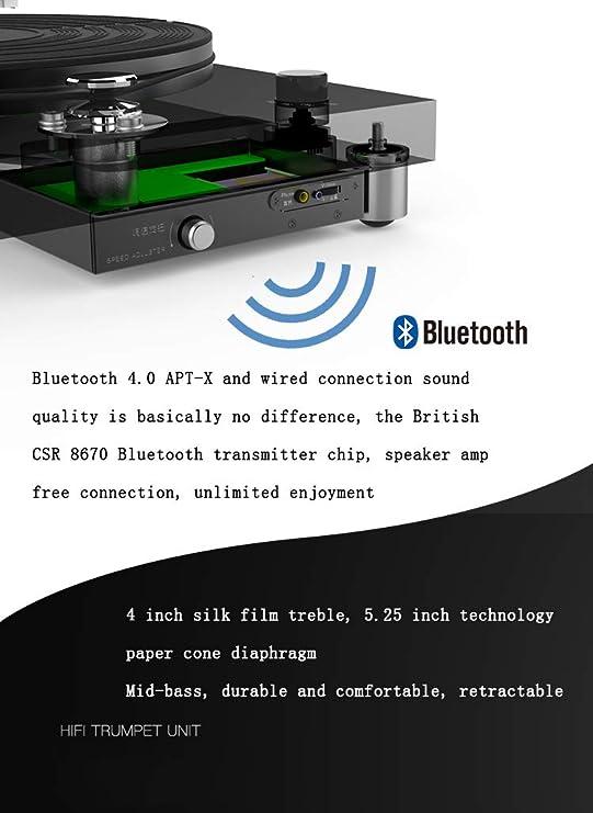 Tocadiscos Inalámbrico Bluetooth Subwoofer Inteligente ...