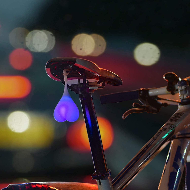 SONGJOY Cycling Tail Light Bike Tailight,Bike Heart-shaped Night Warning Waterproof Silicone LED Bike Rear Signal Light
