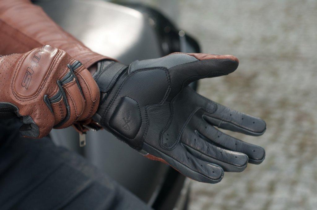 Tama/ño: XXL Retro Vintage Cl/ásico Ventilados Verano Guantes de Motociclismo Negro Shima CALIBER S-XXL
