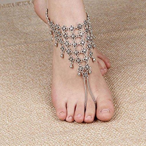 Laat Creative Lady pulsera de tobillo cadena de moda tobilleras mujeres pie cadena de cadena de tobillera descalzo Sandalia pie playa joyería, Aleación, dorado, 21 Color