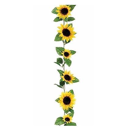 Amazon ooouse silk sunflower flower garland in yellow 6 long ooouse silk sunflower flower garland in yellow 6 long mightylinksfo