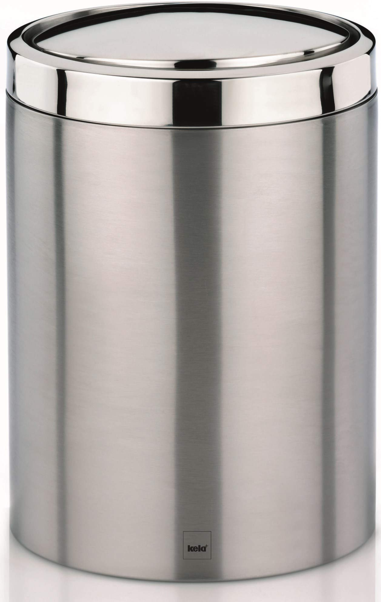 Kela  Trash Can with Lid Ari Collection, Silver