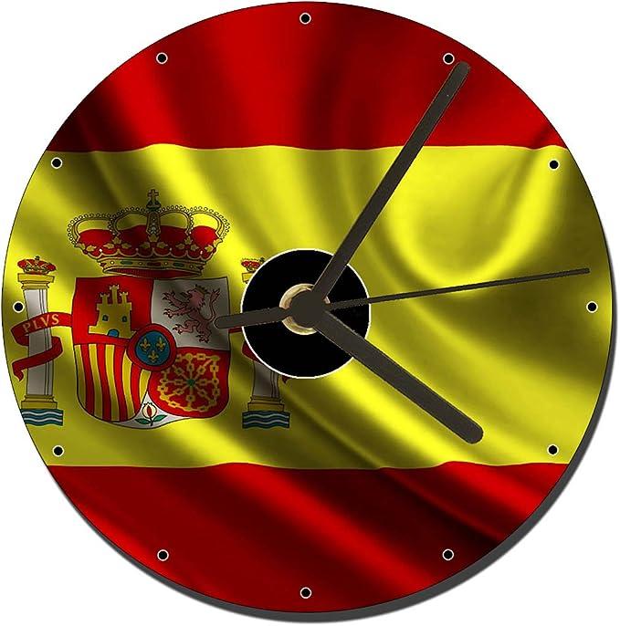 MasTazas Bandera De España Spain Flag Reloj CD Clock 12cm: Amazon.es: Hogar