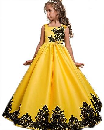 Eudolah Eudolah Blumenmaedchen Taft und Spitze Kleid Kinder Maedchen ...