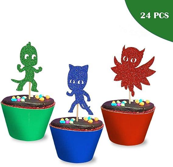 Amazon.com: PJ máscaras inspirado Cupcake Toppers ...