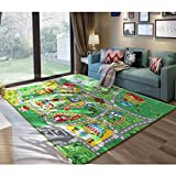 JACKSON 52X74'' Extra-Thick,Extra-Large Kid Rug Playmat For Babies, Toddlers and Kids ,City Play Rug for Toy Cars and Trucks with Non-Slip Backing,No Chemical Smell, Safe And Fun Crawl Mat for Children