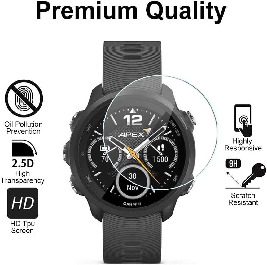 SDTEK *2 Pack Protector de Pantalla para Garmin Forerunner 735XT Cristal Vidrio Templado Glass Screen Protector: Amazon.es: Electrónica
