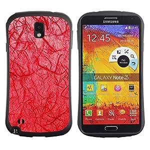"""Hypernova Slim Fit Dual Barniz Protector Caso Case Funda Para Samsung Note 3 [Biología doctor Goth Red""""]"""