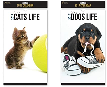 ES una vida de perros gatos Tamaño Pet calendario de pared calendario,, color Its