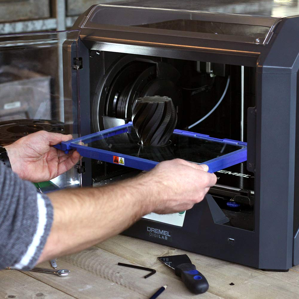 Dremel Digilab 3d45 Award Winning 3d Printer Idea Builder With Big Dog Motorcycle Wiring Schematics Heated Build Plate To Print Nylon Eco Abs Petg Pla At 50 Micron Resolution