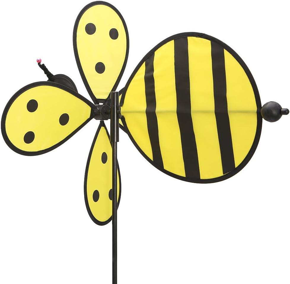 erticvtiu Mulino a Vento Grande Ape Whirligig Wind Spinner Home Yard Garden Decor Giocattolo per Bambini per Bambini