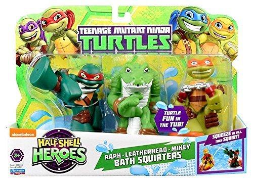 Teenage Mutant Ninja Turtles Pre-Cool Half Shell Heroes Michelangelo, Leatherhead and Raphael Bathtub Squirter Figure (Pack of 3) by Nickelodeon (Image #1)