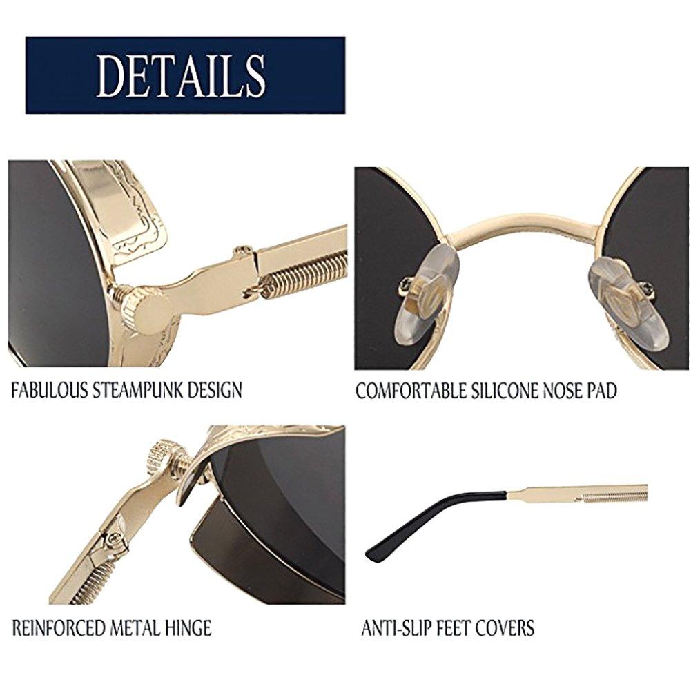 Hippie Retro Sunglasses Round Reflective Polarized Glasses Small Metal Frame