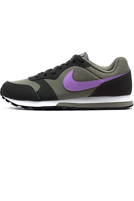 Nike MD Runner 2 (GS), Zapatillas de Deporte para Mujer, (Dark