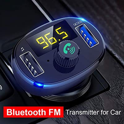 Hi-ERA Bluetooth Wireless Radio Adapter U disk MP3 Player Car Kit, Dual Quick Charge 3.0 USB Charging Ports, Hands Free Calling for All Smartphones: MP3 Players & Accessories