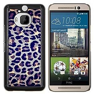 Dragon Case - FOR HTC One M9+ / M9 PLUS - leopard pattern fur animal blue spots - Caja protectora de pl??stico duro de la cubierta Dise?¡Ào Slim Fit