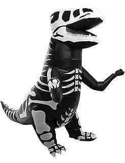 Amazon.com: T-Rex Giant Skeleton Dinosaur Inflatable Costume ...