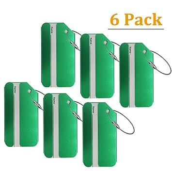 AVESON etiquetas de equipaje, etiquetas de aluminio de metal para equipaje de viaje, etiqueta
